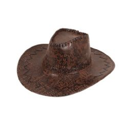Cowboy Hat - Leather Look